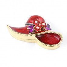 Jeweled Red Hat Trinket Box