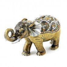 Jewelled Elephant Keepsake Box