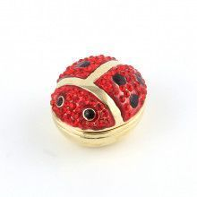 Jewel Encrusted Lady Bug Trinket Box