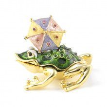 Rainy Day Frog Keepsake Box