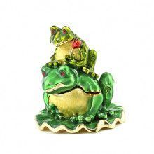 Mama and Baby Frog Keepsake Box