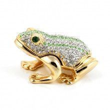 Gold Plated Froggy Trinket Box