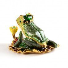 Happy Frog On Lily Pad Trinket Box