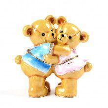 Hugging Teddy Bears Keepsake Box