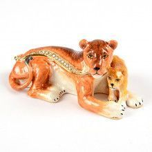Lioness with Cub Trinket Box