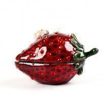 Strawberry with Ladybug Trinket Box