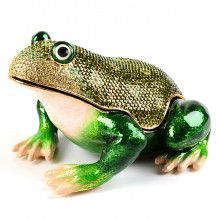 "6"" Long Giant Frog Trinket Box"