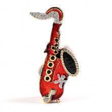 Red Saxaphone Keepsake Box