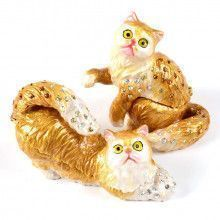 Persian Cat Duo Trinket Boxes