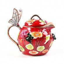 Teapot with Frogs and Butterfly Box