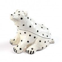 Crystal Spotted Polar Bear Trinket Box