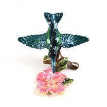 Hummingbird and Hibiscus Trinket Box