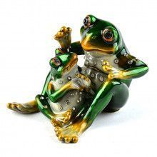 Adorable Frog Family Trinket Box