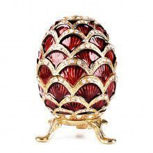 Red Crystal Studded Egg