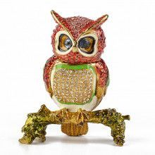 Owl on a Branch Trinket Box