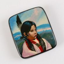 Young Native American Girl Lacquer Box