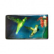 Hummingbirds Russian Lacquer Box