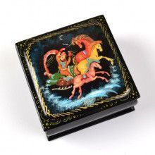 Russian Troika Horses Lacquer Box
