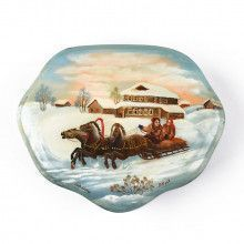 Family Troika Ride Lacquer Box