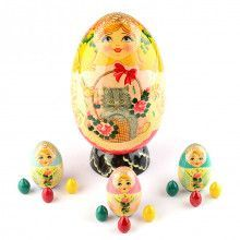 Russian Traditional Easter Nesting Egg