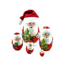 Cute Santa Claus Nesting Doll