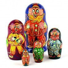 Happy Circus Clowns Stacking Doll