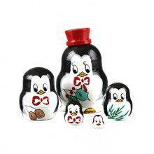 "1 1/4"" Tall Tiny X Mas Penguins Doll"