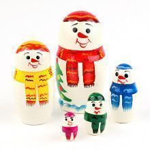 Little Snowman Family Matryoshka