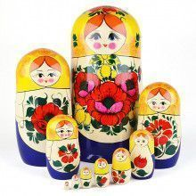 Summer Flowers Traditional Nesting Doll