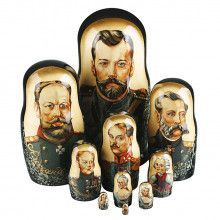 Emperors Of Russia Dynasty 10 Pcs.Nesting Doll