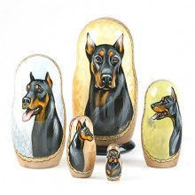 Doberman Nesting Dolls