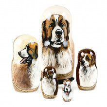 Pyrenean Mastiff Stacking Doll