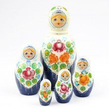 Roses Shawl Russian Stacking Doll