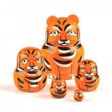 "1 1/2"" Tall Tiny Tiger Stackable Doll"