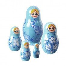 Blue Bird Russian Stacking Doll