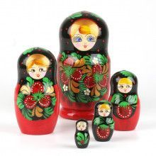 Red Berries Girl Matryoshka