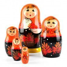 Orange & Black Nested Doll