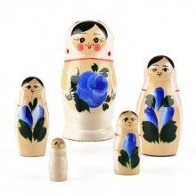 White with Blue Flowers Doll