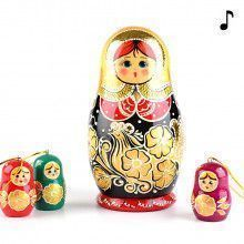Golden Musical Matryoshka Doll