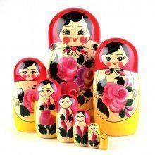 8pc Pink Floral Nested Doll