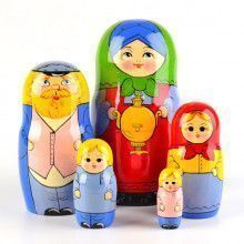 Samovar Tea Family Dolls