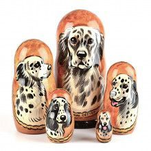 English Pointer Stacking Dolls