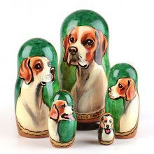 English Pointer Nested Dolls