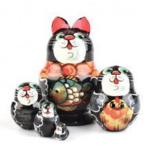 "2"" Tall Cats Matryoshka Doll"