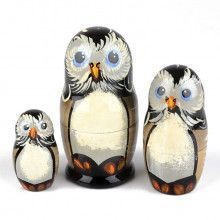 3 pc Owl Stacking Dolls