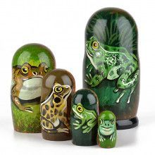 Five Frogs Nesting Dolls