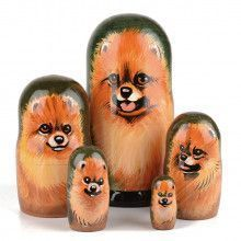Pomeranian Dog Stacking Doll
