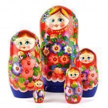 Floral Blossom Beauty - Red & Blue Doll