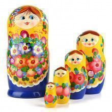 Floral Blossom Beauty - Yellow & Blue Doll