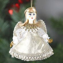White/Gold Christmas Angel Doll